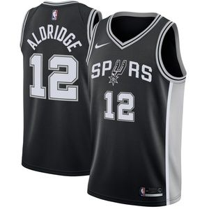 San Antonio Spurs LaMarcus Aldridge Black Jersey